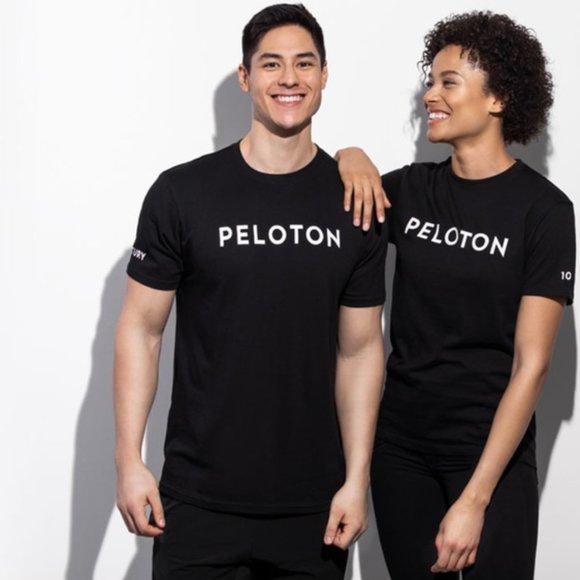 Peloton Black Century Club 100 Short Sleeve Tee L